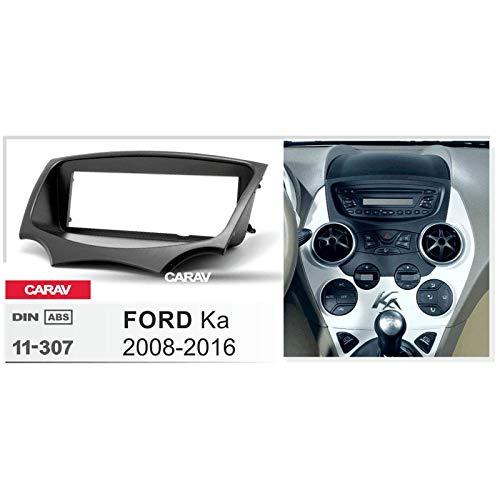 CARAV 11-307 Kit de tablero para radio estéreo de coche, reproductor de CD para instalar salpicadero, kit de panel de bisel para Ford Ka 2008-2016