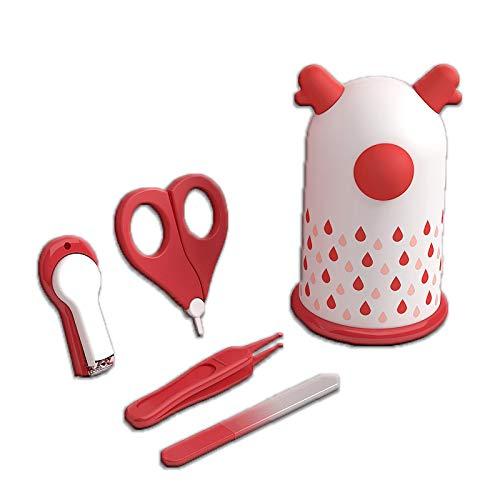 Juego de tijeras para el cuidado de las uñas para niños, kits de cuidado de la salud para bebés, tijeras cortaúñas para recién nacidos (blanco)