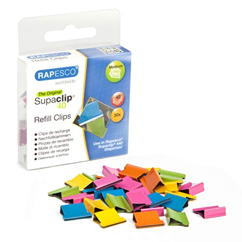 Rapesco Supaclip #40 Refill Clips [Pack of 50]