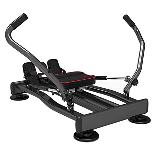 WJSW Hydraulisches Rudergerät, Multifunktions-Rudergerät Muskel-Schwingarm-Trainingsgerät Ganzkörper-Sport-Fitnessgeräte