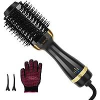Kommok One-Step Volumizer Hot Air Hair Brush (Golden)