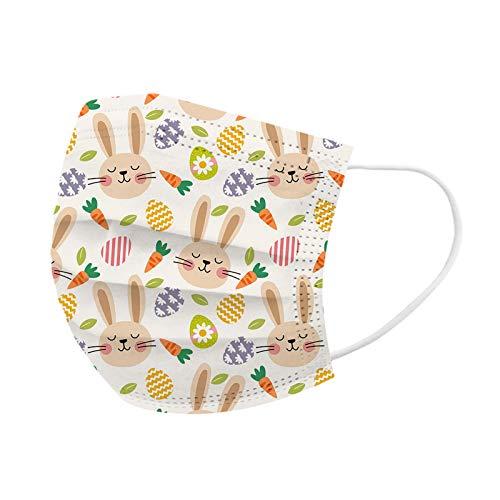 10/20/50/100 pc Unisex Erwachsene Ostern Schal - Universal Fashion niedlich Tier Druck Bequeme elastische Earloop Schal für Oudoor täglich - 10121-9