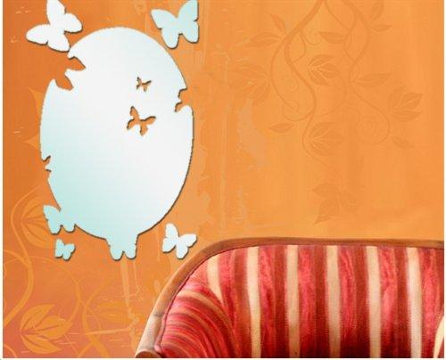 DCY Baby Restaurant Salon Ovale Papillon Miroir Autocollant Mural