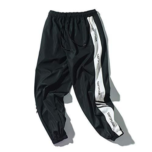 Tasty Life Pantalones De Chándal De Hip-Hop Unisex, Pantalones De Jogging Deportivos Casuales para Hombres, Ropa De Calle Urbana para Adolescentes Y Niños Pequeños, Elegantes Pantalone(M,Black)