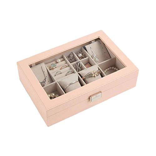 XXSHN Joyero: múltiples Compartimentos con Espejo de Maquillaje Grande, la Capa Desmontable...