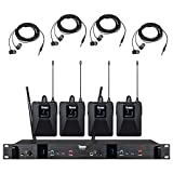TBAXO Wireless in Ear Monitor System UHF Pro Audio Professional Monitoring 2 Channel 32 Fr...