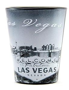 Las Vegas Nevada Black B & W Shot Glass ctm from World By Shotglass