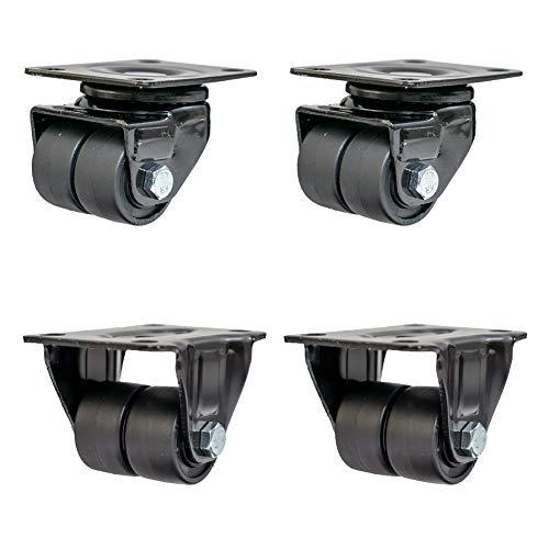 Casters 1,5 Zoll Niedriger Schwerpunkt Universalrad/Schwere Flachrollen, Richtungsräder, Verschleißfest Und Mühelos, Tragfähig 450 Kg / 4, Stabil Und Sicher, Vier In Einer Packung.