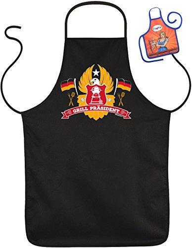 Lustige Rahmenlos Tablier barbecue humoristique Inscriptions le Président – Barbecue de protection avec mini Tablier
