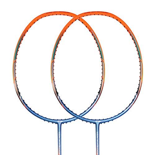 Li Ning Badminton Racket Windstorm 72 unbespannt Badmintonschläger Federball-Schläger (orange)