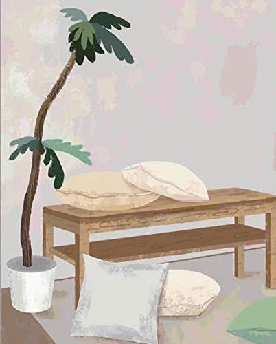 rtjeiwthgewgr Pintura al óleo de Bricolaje Pintura de descompresión para Colorear Digital Pared de Fondo Pintura Decorativa Simple con Marco Interno 40 * 50