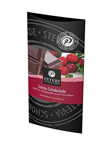 PETERS Stevia Schokolade - Zartbitter mit Cranberry 85g