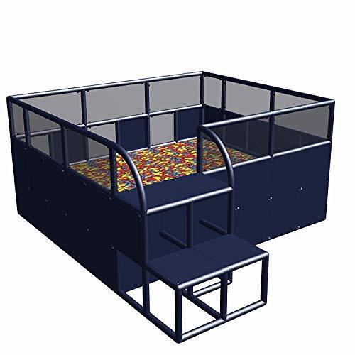 move and stic Baño de Bolas Ballcenter Bällepool Bällchenbad 2,45m X 2,85m X 1,25 con Refuerzo Aluminio para Spielhallen, Jardín Infancia y Otros Público Einrichtungen- sin - Puro