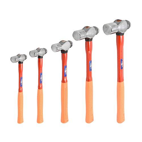 Neiko 02870A Soft Grip Handles Fiberglass Hammer Ball Peen Set (5 Piece)
