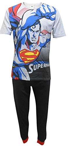 Superman DC Comics Herren Flying Zweiteiler Pyjama Set - Medium