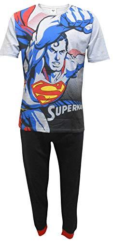 Superman DC Comics Herren Flying Zweiteiler Pyjama Set - Klein