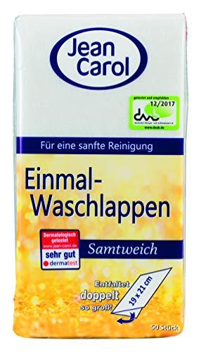 Jean Carol Einmal-Waschlappen, Samtweich, 5er Pack (5 X 50 Stück)