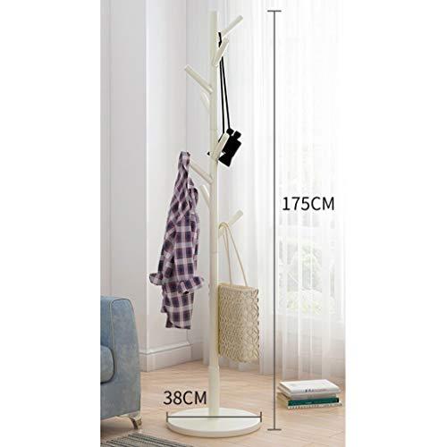 XQAQX Coat Rack Houten kapstok staan 8 haken kledingstandaard boom vloerstandaard hoed en mantelstandaard rek kleding jas opslag kledinghanger 175 cm H garderobestand