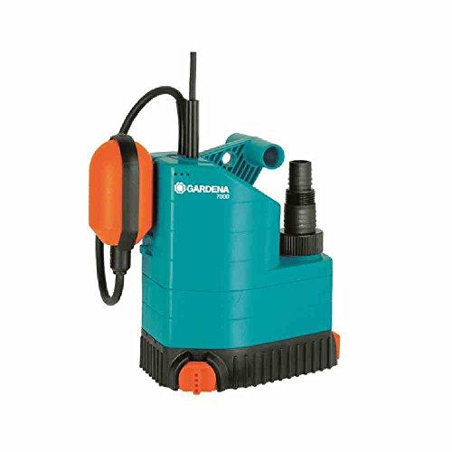 Gardena Bomba sumergible de Aguas limpias 7000SL Potencia Nominal : 250 W. Caudal máx.: 7000 l/h, Estándar