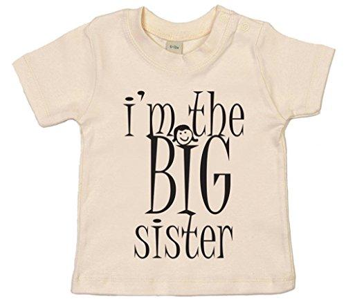 Image Vêtements bébé, I'm The BIG Sister, T-Shirt bébé Fille, 18-24m, Beige