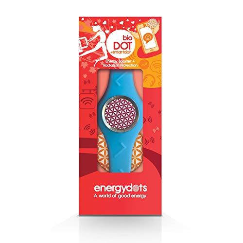 Energydots BBSB-L BioBAND, persoonlijke energiebescherming en versterker, extra effectieve EMF-bescherming voor mobiele telefoons, draadloze apparaten, PC's, klein-blauw