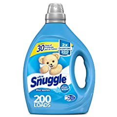 Snuggle's original Blue Sparkle scent is a fresh and clean blend of white floral and bright green citrus notes that snuggle up to warm woody notes and soft musk for a comforting, long-lasting freshness your family will love. Using fabric softener in ...