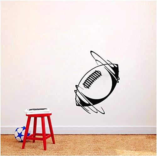 Adesivo murale citazioni art vinile murale fai da te rimovibile spinning palla da rugby decalcomania home decor bambini nursery bagno cucina camera bambini nursery regalo 44 * 62cm