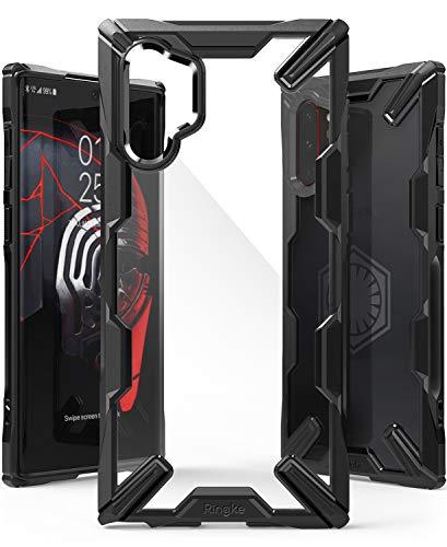 Ringke Fusion-X fürs Galaxy Note 10 Plus Hülle, Handschlaufe Loch im Rand mit Kratzfest Fingerabdruckfest Rückseite - Black