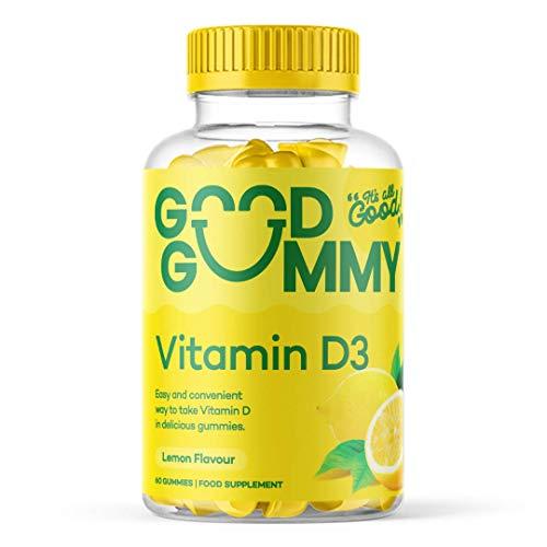 Good Gummy Vitamin D3 | Vegan & Vegetarian | 60 Chewable Lemon Flavour Gummies | High Strength | Sunshine Vitamin | Gluten Free | 60 Gummies