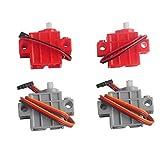 4個のプログラマブルオタクサーボモーター micro:bit Robotbit スマートカー レゴ適用 (2個灰色+2個赤い)