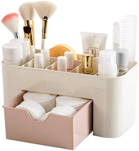 Inditradition Multipurpose Cosmetic Makeup Organizer Multi Section with Drawer Plastic