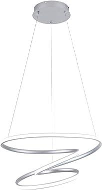 WELAKI LED Modern Pendant Light, 70W 6000K Dimmable Modern Chandelier Ceiling Light Fixture, Length Adjustable Hanging Pendan