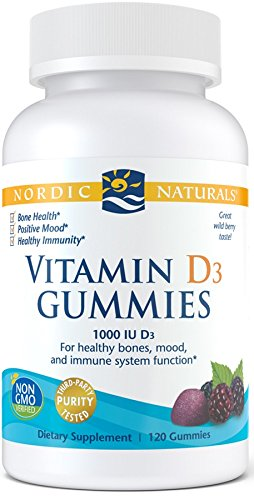 Nordic Naturals Vitamin D3 Gummies - Healthy Bones, Mood, and Immune System Function*, 120 Count
