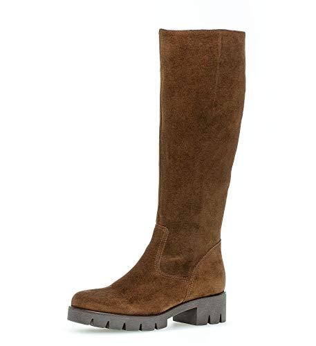Gabor Damen Stiefel, Frauen Plateau Stiefel,Wechselfußbett,Best Fitting, Boots lederstiefel langschaftstiefel,Whisky,36 EU / 3.5 UK