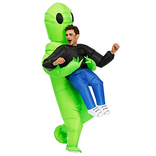 KOOY Inflatable Alien Unicorn Pick Me Up Costume Inflatable Halloween Party Costumes Blow up Costumes Adult/Kids