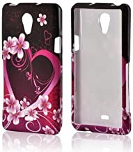 Bundle Accessory for AT&T Sony Ericsson Xperia TL LT30at - Purple Flower Designer Case Protective Cover + Lf Stylus Pen + Lf Screen Wiper