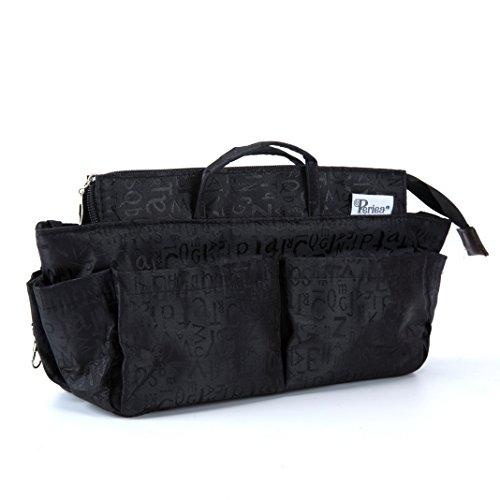 Periea Handtaschen-Organiser, 12 Fächer - Keriea (Schwarz, L)