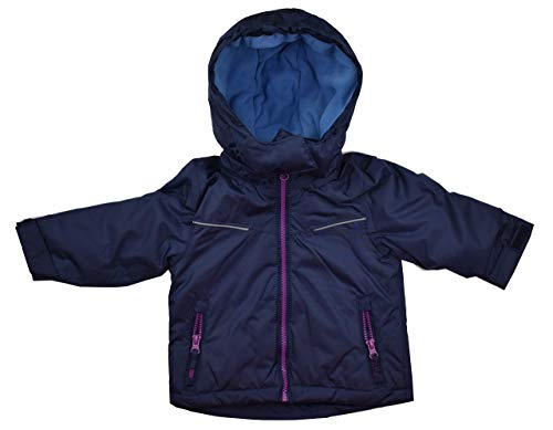 Pocopiano Skijacke Schneejacke Winterjacke für Mädchen Blau 74/80 86/92 98/104 110/116 (98/104)