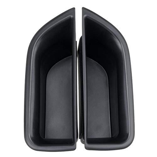 DIBAO Caja de Almacenamiento de la manija de la Puerta del Movimiento de 2 Piezas Organizador de Midland for Volov XC70 V70 S80 (Color : Black)