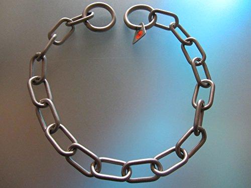 Sprenger Kettenhalsband Mediumkette mit 2 Ringen Edelstahl matt 3 mm für Hunde bis 55 kg (50 cm)