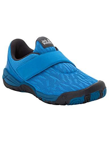 Jack Wolfskin Unisex-Kinder Jungle Gym Chill VC Low Sneaker, Blau (Snake 7792), 37 EU
