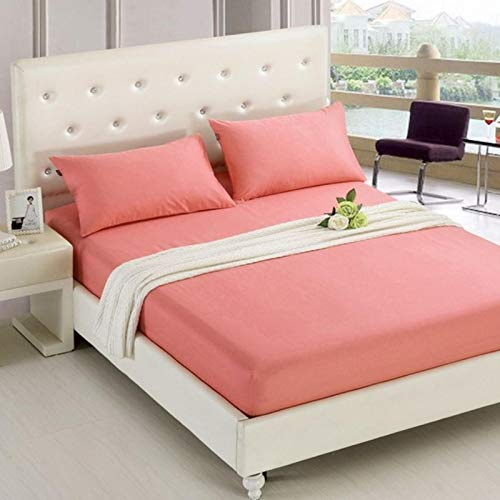 TIANCI Pure 24 Colors Solid Fitted Bedsheet Cotton Polyester Fitted Sheet Pure Colored Fitted Bed Sheets,CL001-50,90X200X20CM
