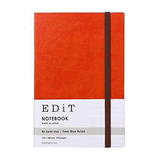 マークス 横罫ノート B6変型 EDiT アプリコットオレンジ EDI-NB14-OR
