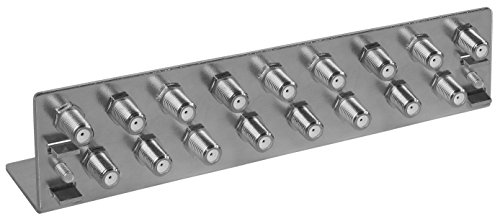 Axing QEW 17-50  Erdungswinkel 17-fach Potentialausgleich Koax Erdungsblock verzinkt