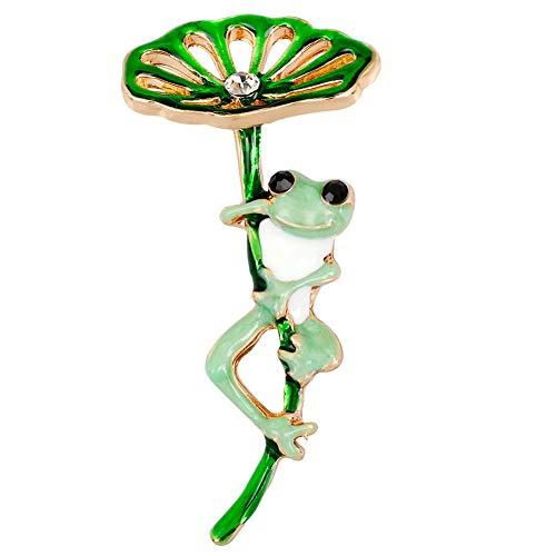Yazilind Netter Frosch Entworfen Brosche Clip Strass Brosche Hochzeit Prom Pin für Frauen Vintage Kleidung Dekoration Alloy Schmuck