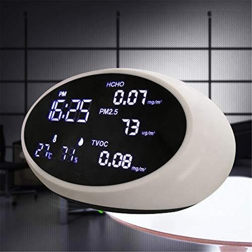 VULID Raumluft Monitor, Hochpräziser Formaldehyd Detektor Mit Großem LCD-Bildschirm Für Luftfeuchtigkeit Temperatur