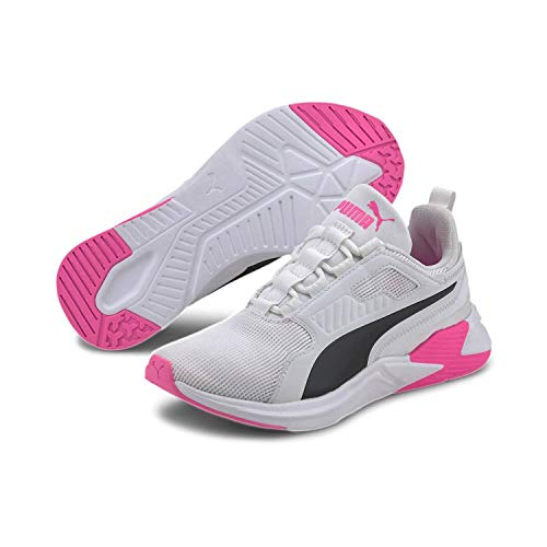 PUMA Damen Disperse Xt WN's Gymnastikschuh, White-Luminous Pink, 40 EU