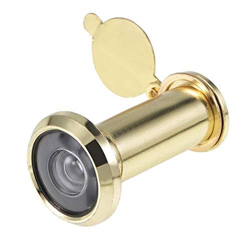 ALONGB Mirilla para puerta, latón cromado, 35 mm - 55 mm, 200 grados, con protección visual