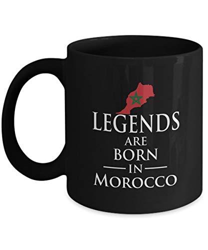 N\A Leyendas Nacidas en Marruecos Taza de té de café de cerámica marroquí - Regalo navideño de Hanukkah para Hombres y Mujeres