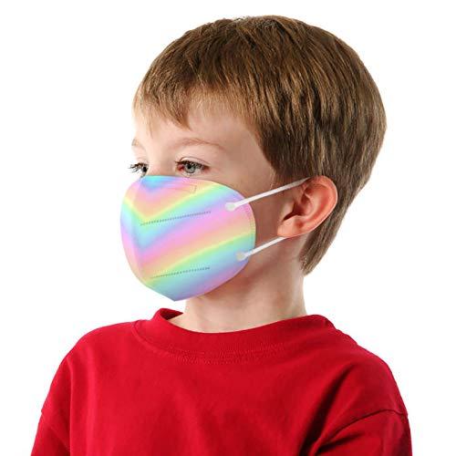 Yuemei 10/20/25/50/100 Stück Kinder Mund-und Nasenschutz, 5 Lagig Vlies Design hoher Mehrweg Faltbar Atmungsaktive Staubdicht Bandana Staubdicht Mund-und Nasenschutz für Junge Mädchen (20PC)